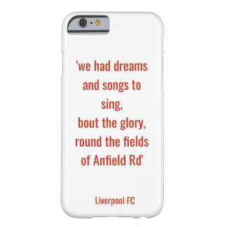 LFC phone case - the fields on Anfield Rd
