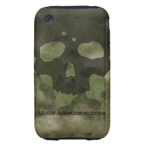 LFI Double Tap Skull ATACS FG for the i-phone 3G Tough iPhone 3 Cases