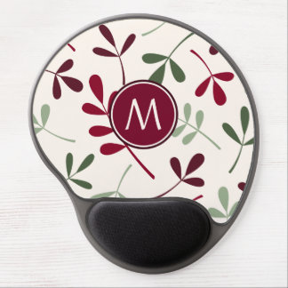 Lg Asstd Leaves Reds Greens Cream (Personalized) Gel Mouse Pad