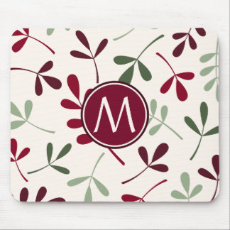Lg Asstd Leaves Reds Greens Cream (Personalized) Mouse Pad