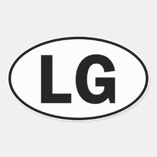 LG Oval Identity Sign Oval Sticker