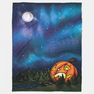 LG Starry Pumpkin Nights Fleece Blanket