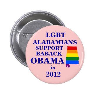 LGBT Alabamians for Obama 2012 Pinback Buttons