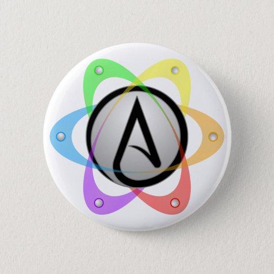 Lgbt Atheist Atom Symbolg 6 Cm Round Badge Zazzle