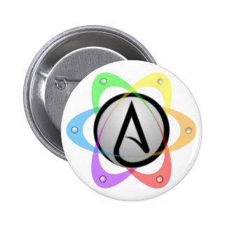 LGBT Atheist Atom Symbol.png 6 Cm Round Badge