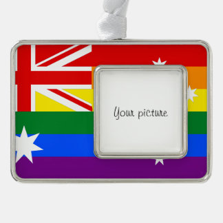 LGBT Australia Silver Plated Framed Ornament