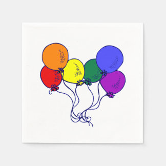 LGBT Balloons Disposable Napkin