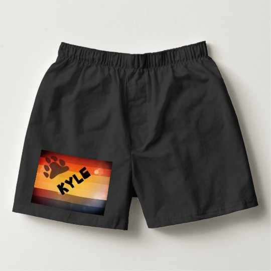 LGBT Bear Pride Custom Name Boxers