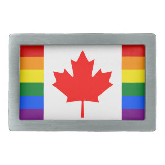LGBT Canada Rectangular Belt Buckle