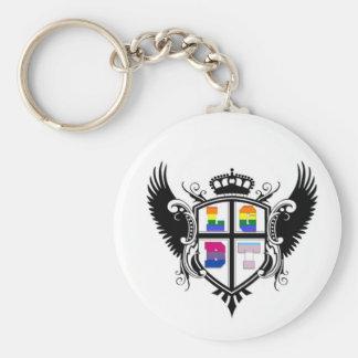 LGBT Crest (Lesbian, Gay, Bisexual, Transgender) Basic Round Button Key Ring
