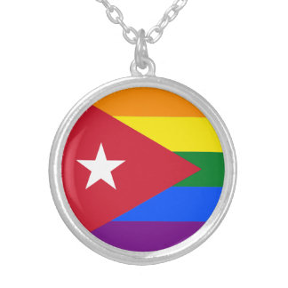 LGBT Cuba Silver Plated Necklace