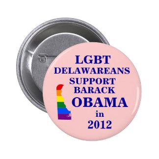 LGBT Delawareans for Obama 2012 Button