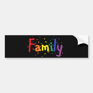 LGBT Family Logo. Bumper Sticker