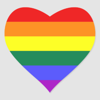 LGBT Flag Heart Sticker