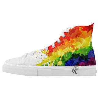 LGBT Flag High Tops Printed Shoes