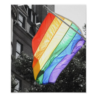 LGBT Flag Photo Poster