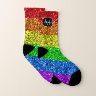 LGBT flag vibrant sparkles Monogram 1
