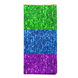 LGBT flag vibrant sparkles Napkin