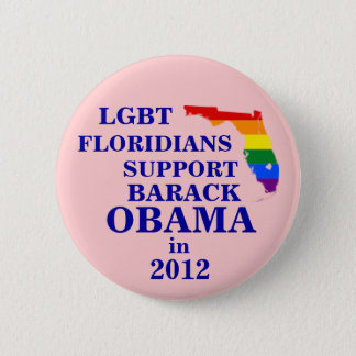 LGBT Floridians for Obama 2012 6 Cm Round Badge