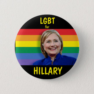 LGBT for Hillary Clinton 6 Cm Round Badge
