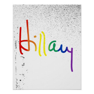 LGBT for Hillary Clinton Poster
