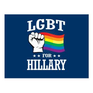 LGBT FOR HILLARY POSTCARD