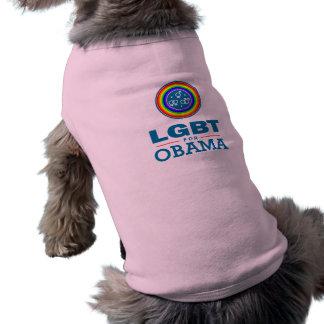 LGBT for OBAMA Pet Tshirt