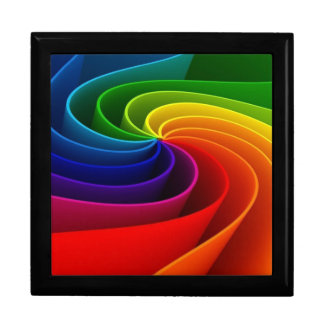 LGBT Gay Pride Rainbow Colors on Black Gift Box