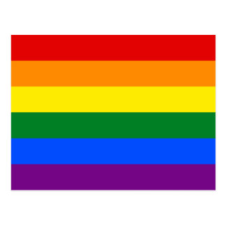 LGBT Gay Pride Rainbow Flag Postcard