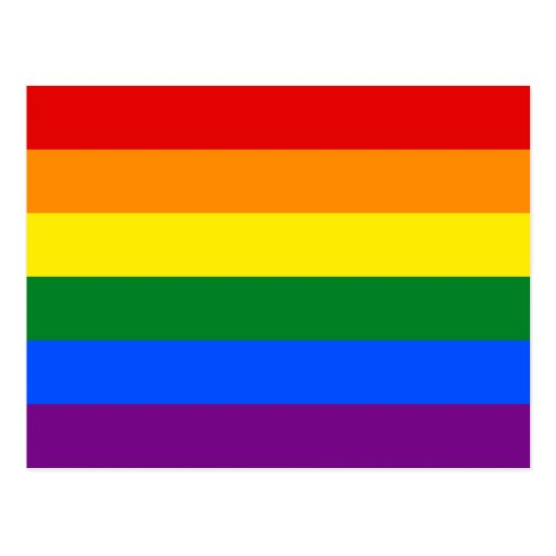 LGBT Gay Pride Rainbow Flag Postcards