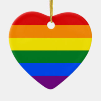LGBT Gay Pride Rainbow Flag Stripe Christmas Ornament