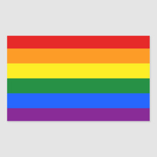 LGBT Gay Pride Rainbow Flag Stripe Rectangular Sticker