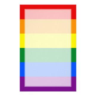 LGBT Gay Pride Rainbow Flag Stripe Stationery Design