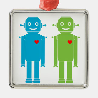 LGBT Gay Robots Holiday Ornament