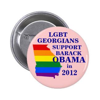 LGBT Georgians for Obama 2012 Pinback Button