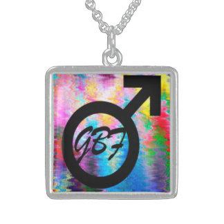 "LGBT Gifts ""GBF"" symbol pendant"
