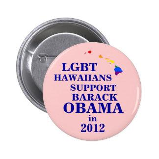 LGBT Hawaiians for Obama 2012 6 Cm Round Badge