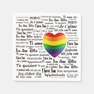 LGBT I Love You Disposable Serviette