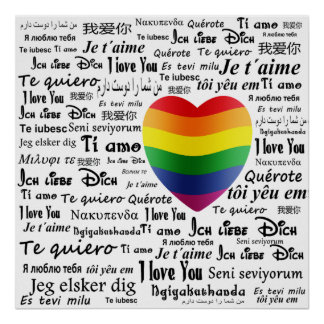 LGBT I Love You Poster