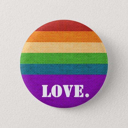LGBT Love 6 Cm Round Badge
