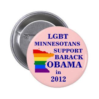 LGBT Minnesotans for Obama 2012 Button