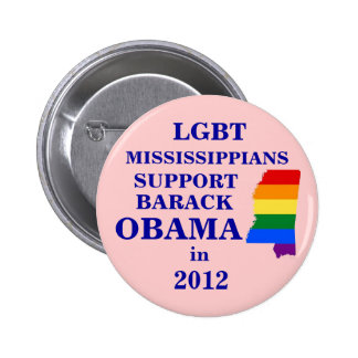 LGBT Mississippians for Obama 2012 Button