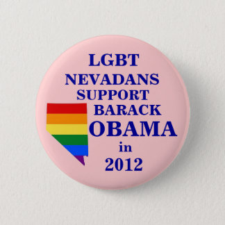 LGBT Nevadans for Obama 2012 6 Cm Round Badge