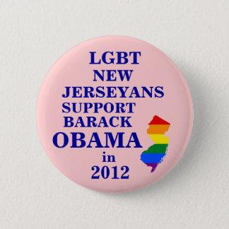 LGBT New Jerseyans for Obama 2012 6 Cm Round Badge