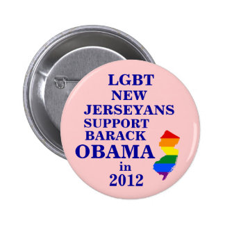LGBT New Jerseyans for Obama 2012 6 Cm Round Badge
