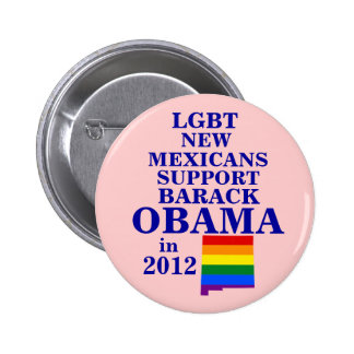 LGBT New Mexicans for Obama 2012 Button