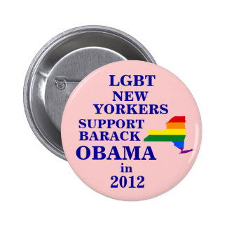 LGBT New Yorkers for Obama 2012 6 Cm Round Badge