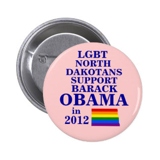 LGBT North Dakotans for Obama 2012 Pinback Buttons