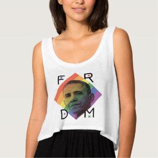 LGBT Obama Crop Tank Top
