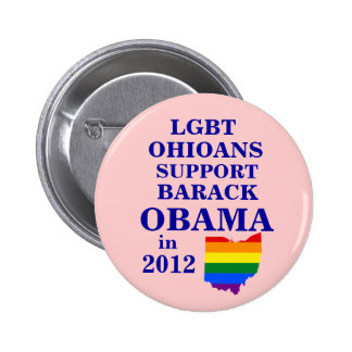 LGBT Ohioans Connecticut for Obama 2012 6 Cm Round Badge